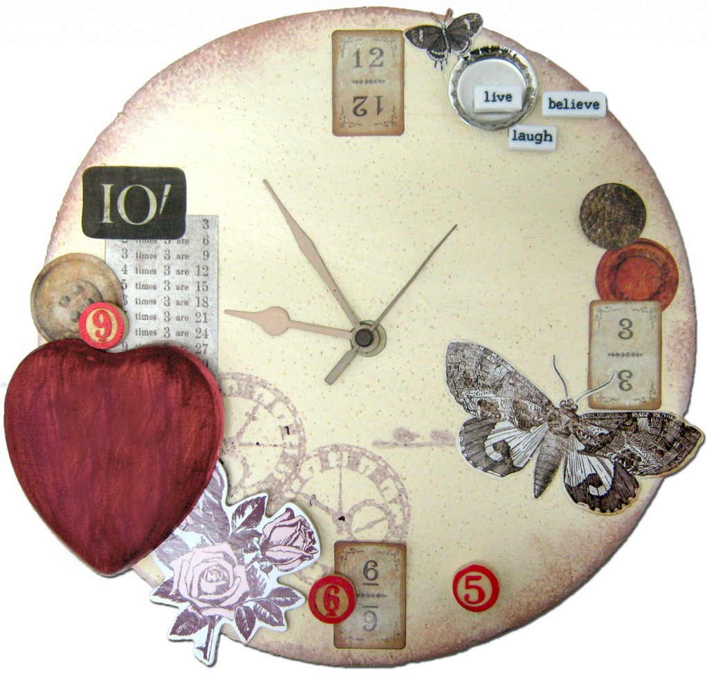 vintage embellished clock