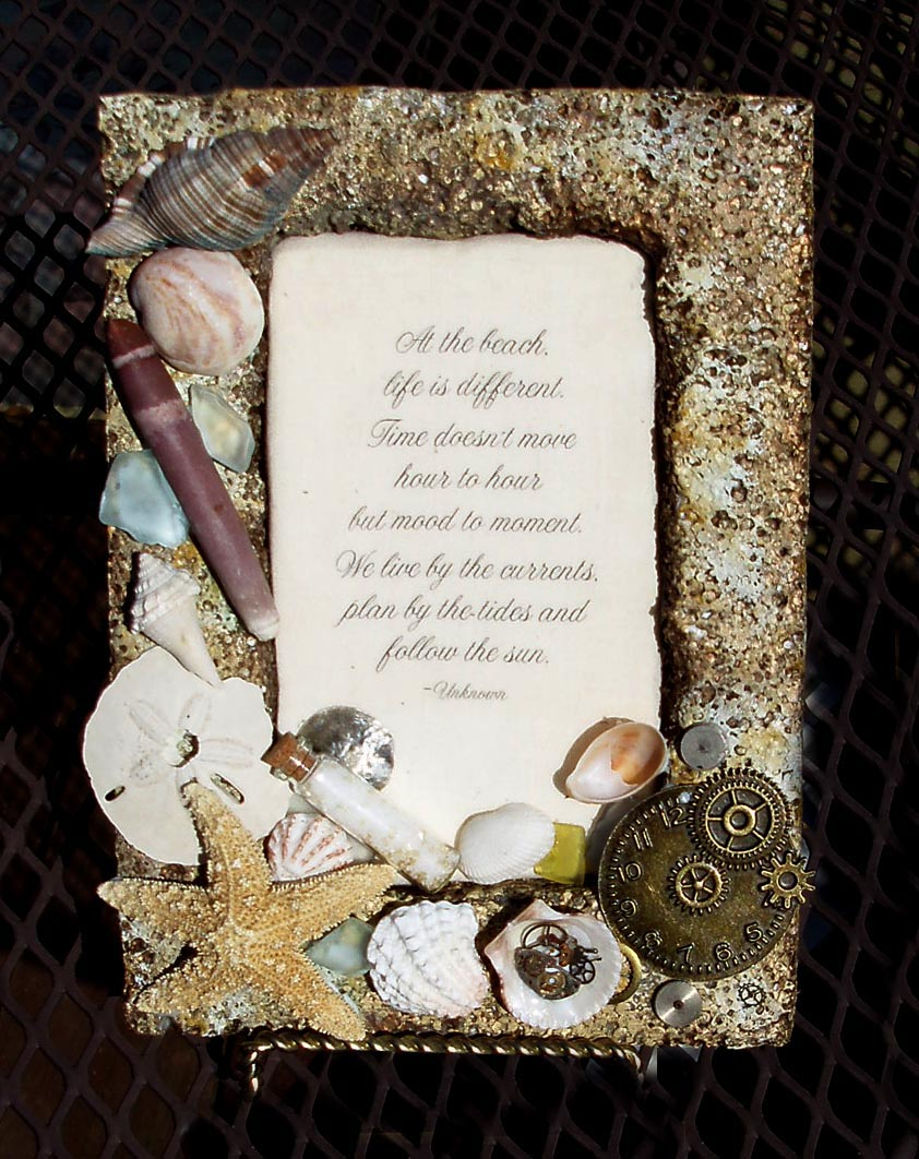 sand texture smoothfoam picture frame