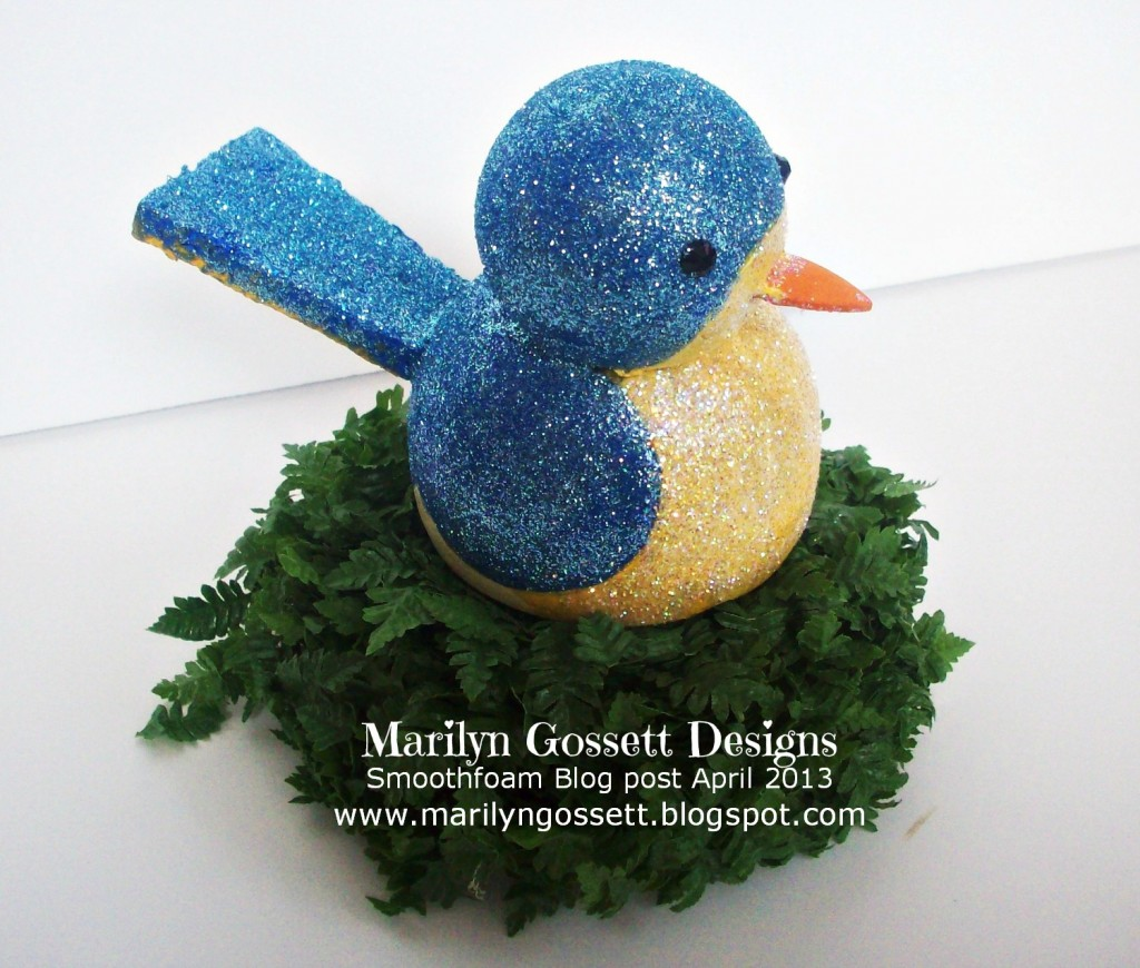 blue glitter bird smoothfoam