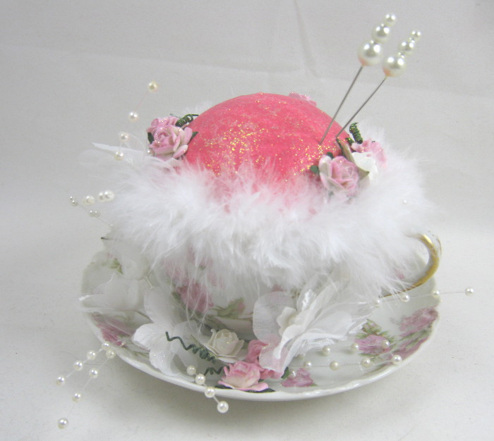 Teacup pincushion made with Smoothfoam by Dawn Lotharius