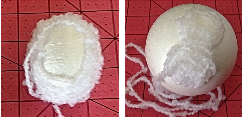 yarn wrapped foam ball