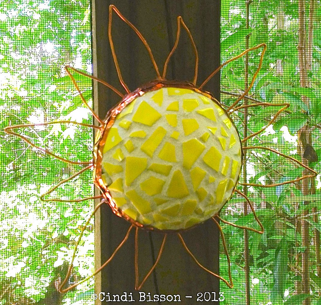 Smoothfoam mosaic tile sun by Cindi Bisson