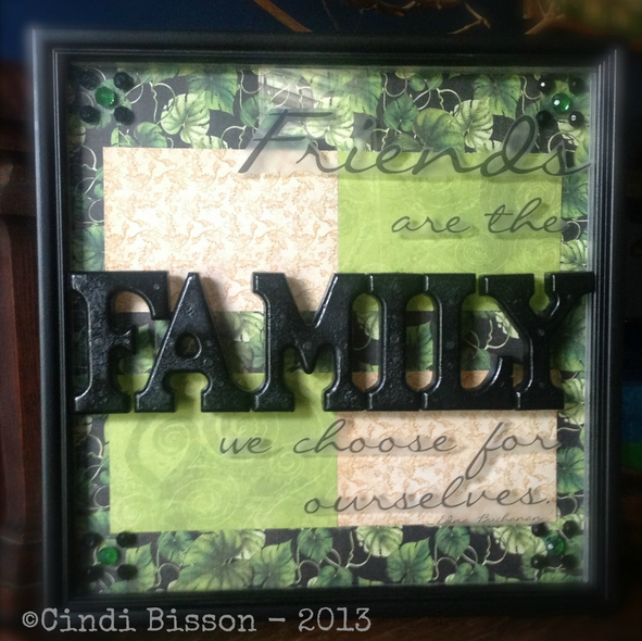Framed mixed media art with Smoothfoam by Cindi Bisson