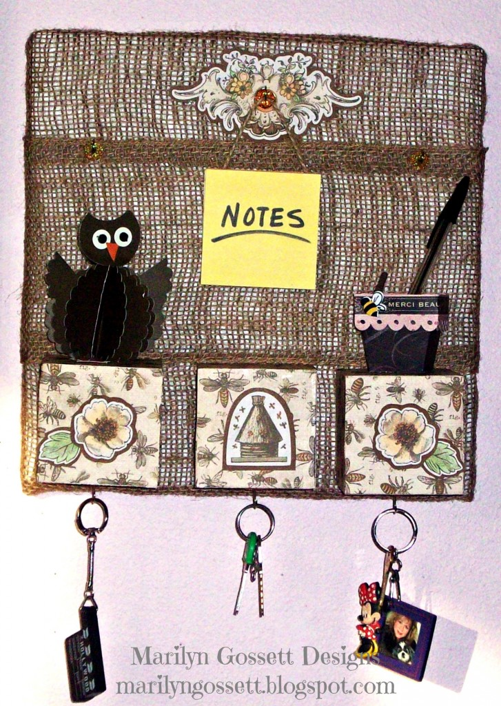 Smoothfoam bulletin board key rack by Marilyn Gossett