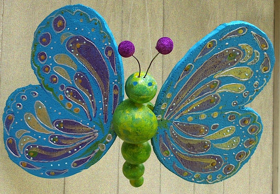 Metallic Smoothfoam butterfly by Candice Windham