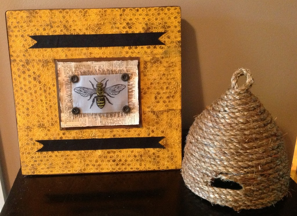 Honeycomb Mixed Media Wall Art - Cindi Bisson