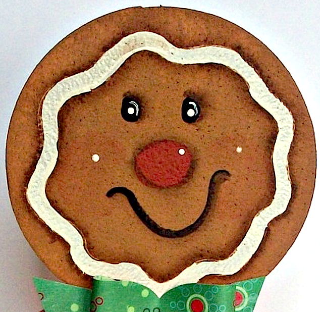 Gingerbread man face painted on Smoothfoam