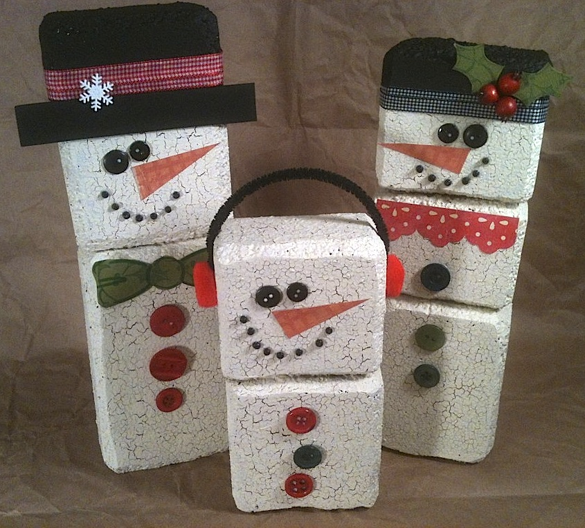 Wood Block Christmas Craft Projects