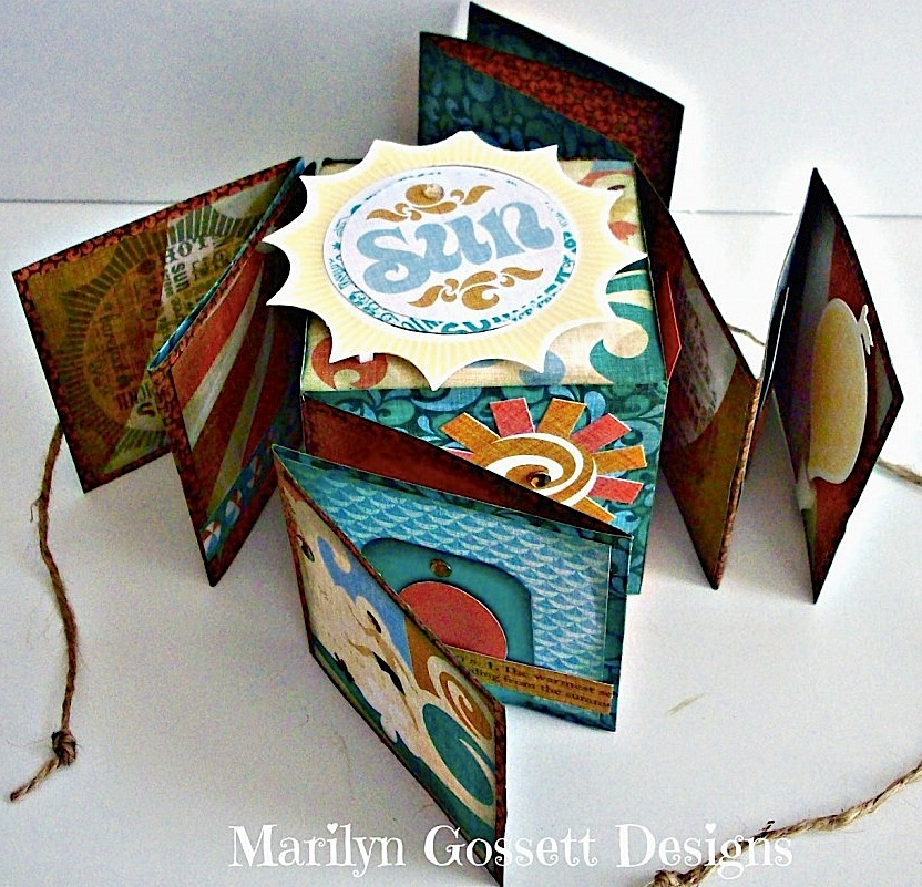 Accordian mini scrapbook block with Smoothfoam by Marilyn Gossett