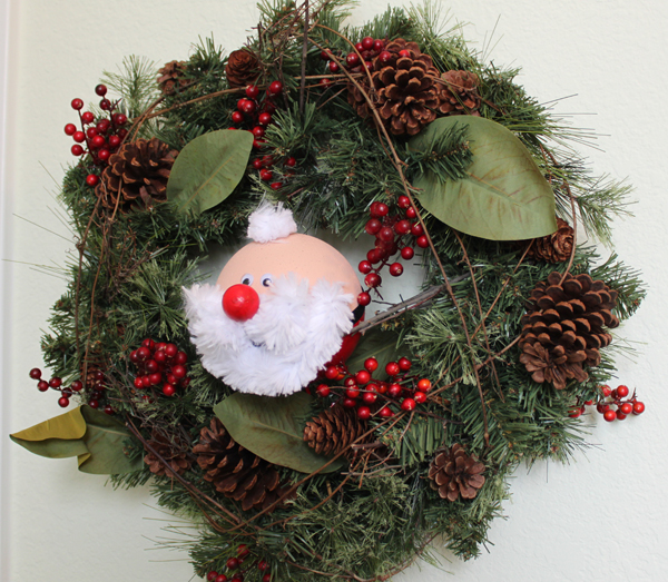 Smoothfoam santa wreath embellishment