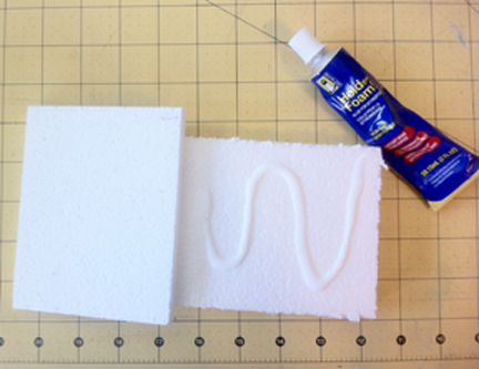 glue smoothfoam pieces