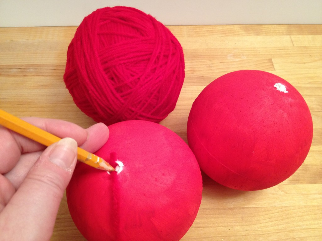 yarn covered Smoothfoam balls