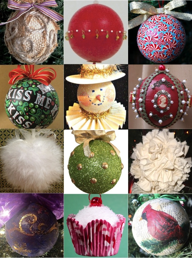 Smoothfoam Christmas ball ornaments