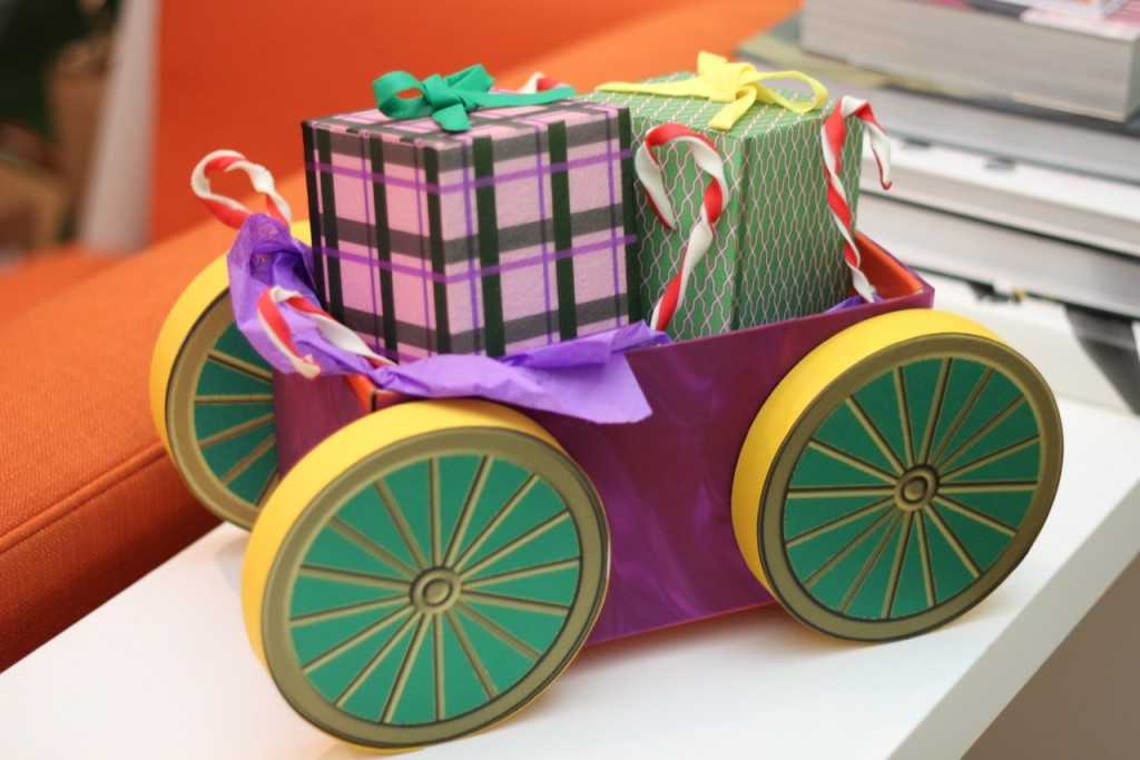 Smoothfoam toy cart centerpiece