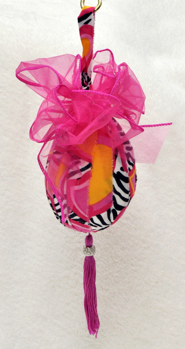 smoothfoam fabric covered egg ornament