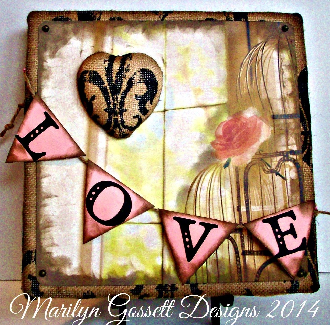 burlap smoothfoam love panel