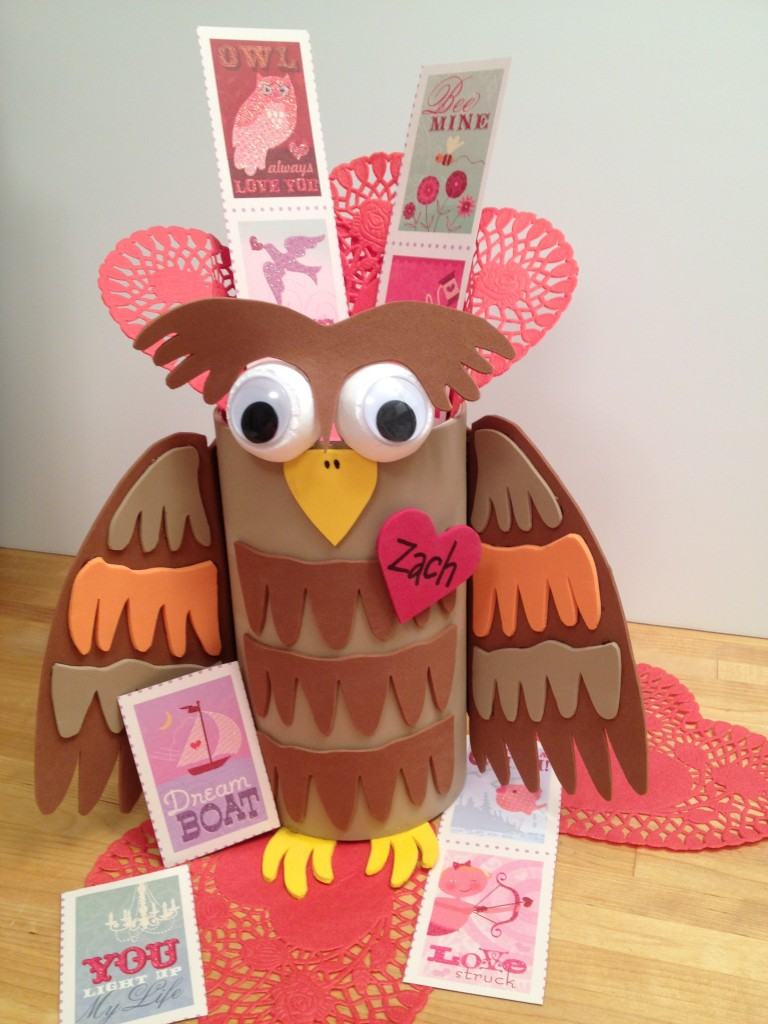 Smoothfoam owl valentines kids craft
