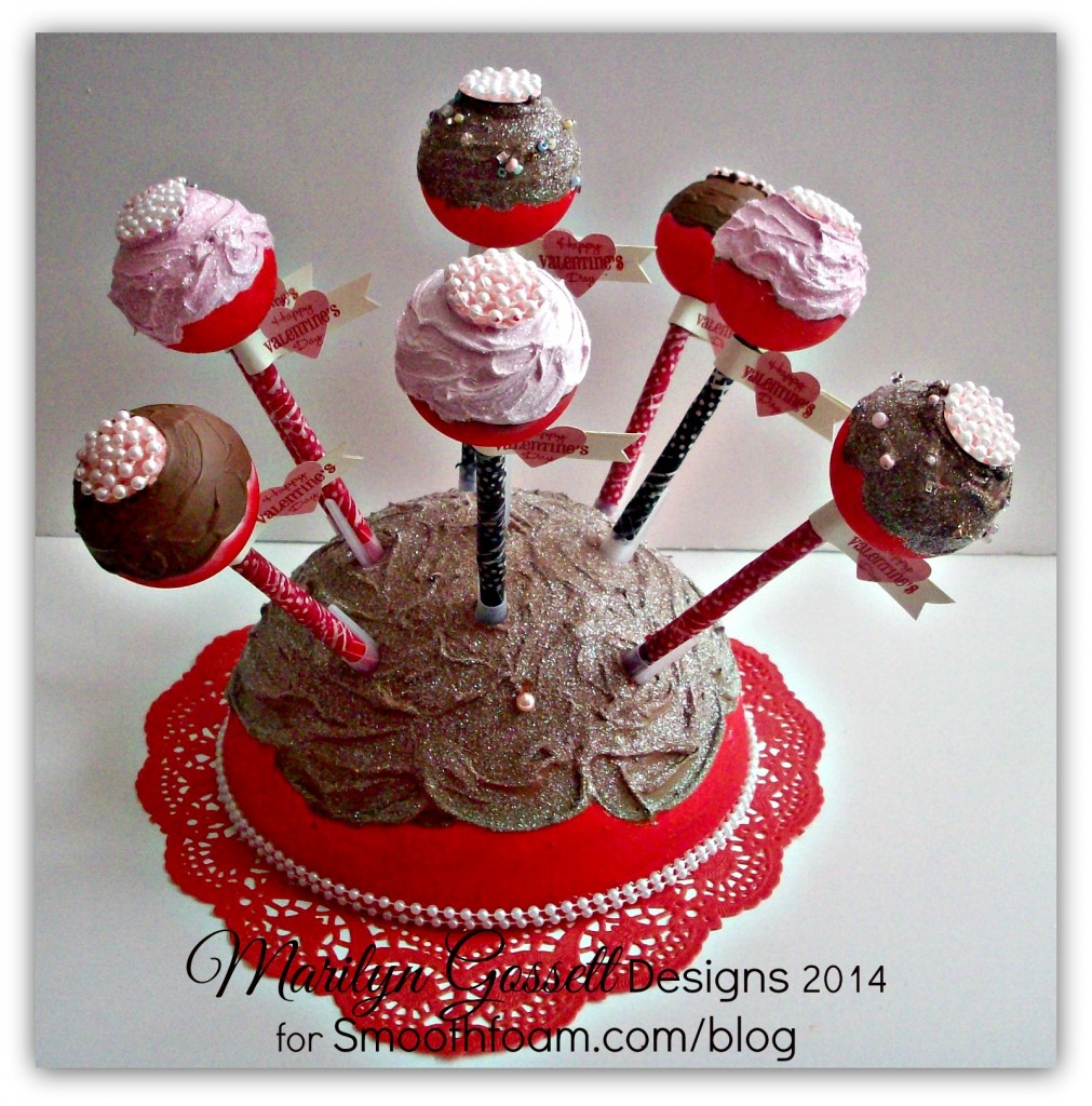 Smoothfoam cake pop display