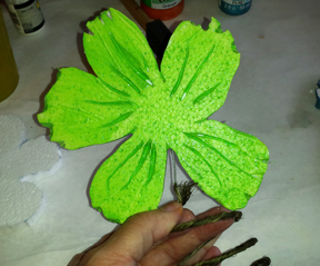 assemble smoothfoam flowers