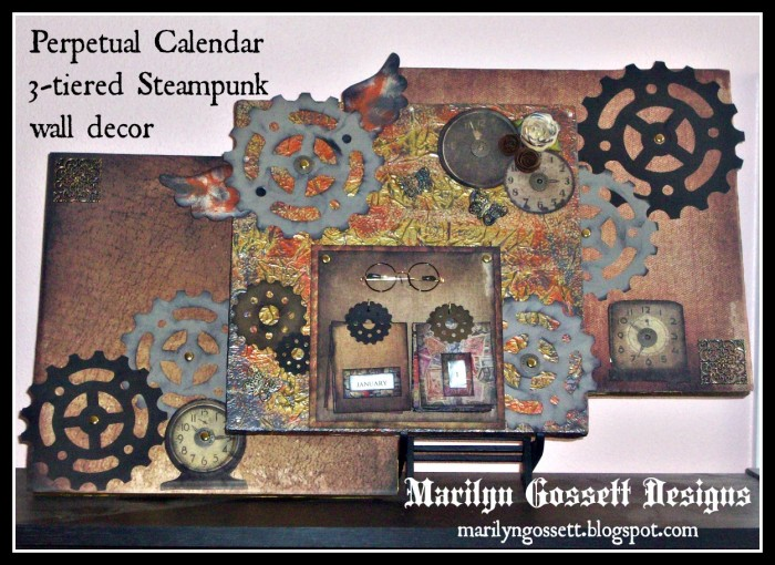 Smoothfoam steampunk triptych calendar
