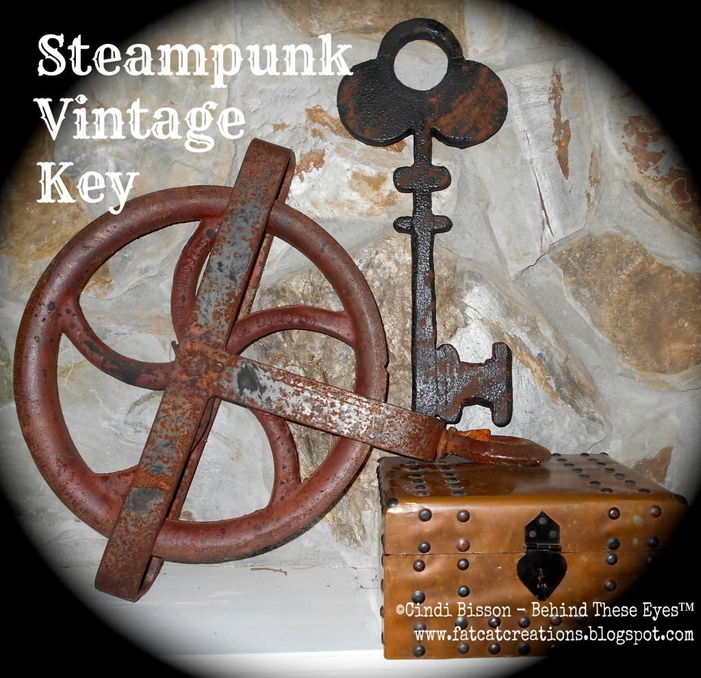 Smoothfoam Steampunk Vintage Key Decoration