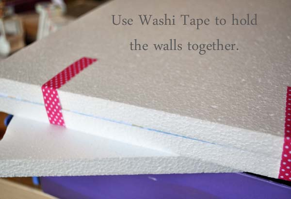 Washi Tape Smoothfoam DIY dollhouse