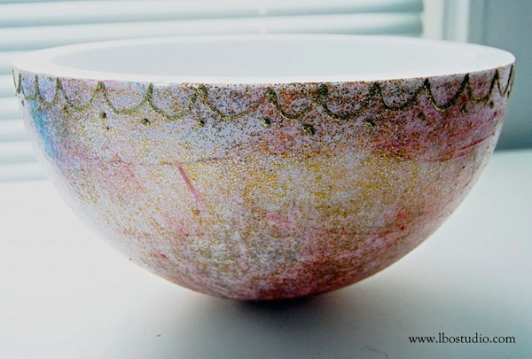 smoothfoam glitter bowl
