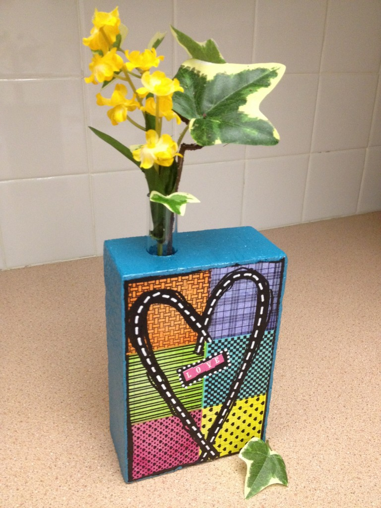 smoothfoam block bud vase