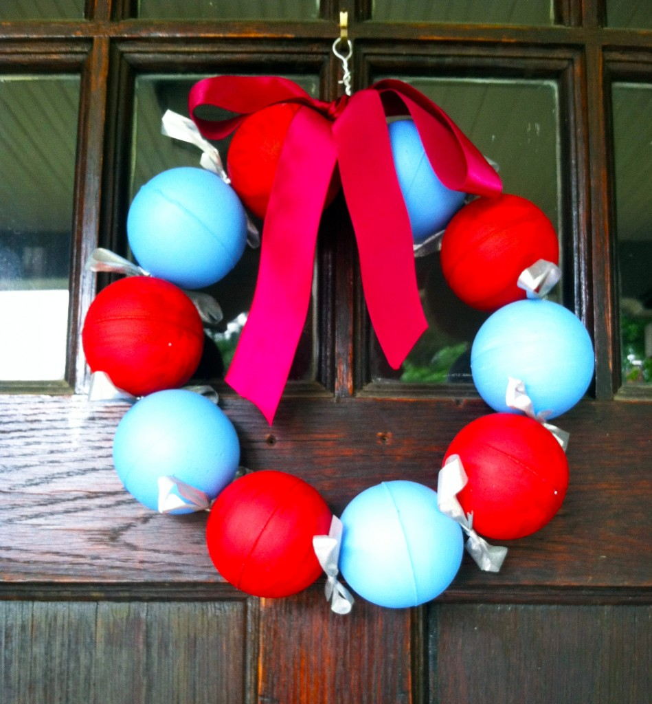 smoothfoam fourth july wreath