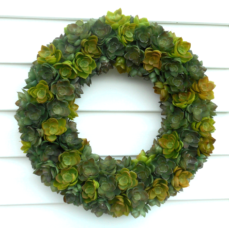 smoothfoam succulent wreath