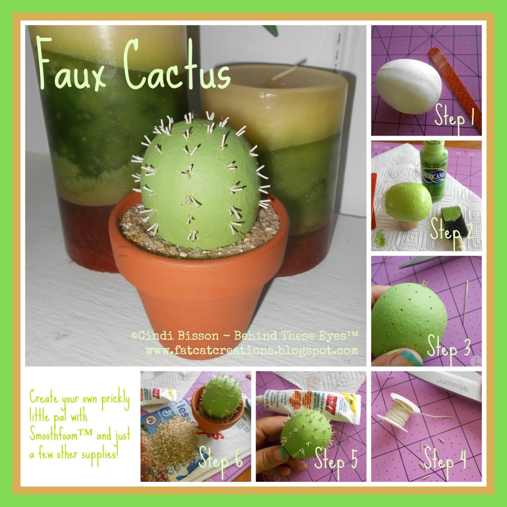 Smoothfoam cactus craft