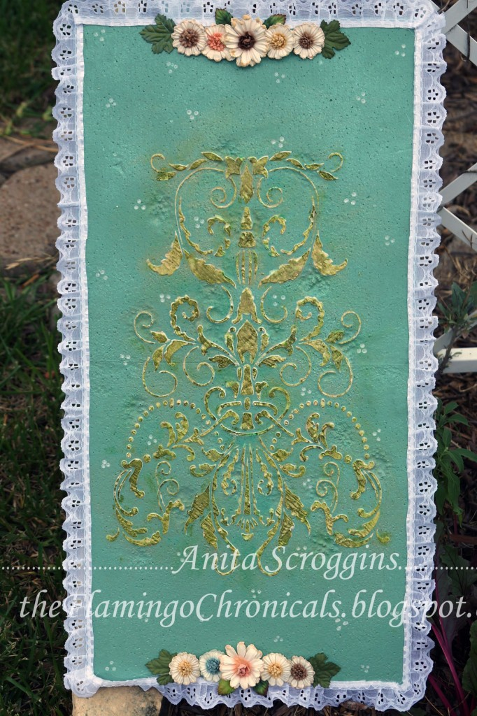 stenciled smoothfoam art panel