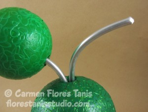 Stylized Orange Tree Topiary by Carmen Flores Tanis