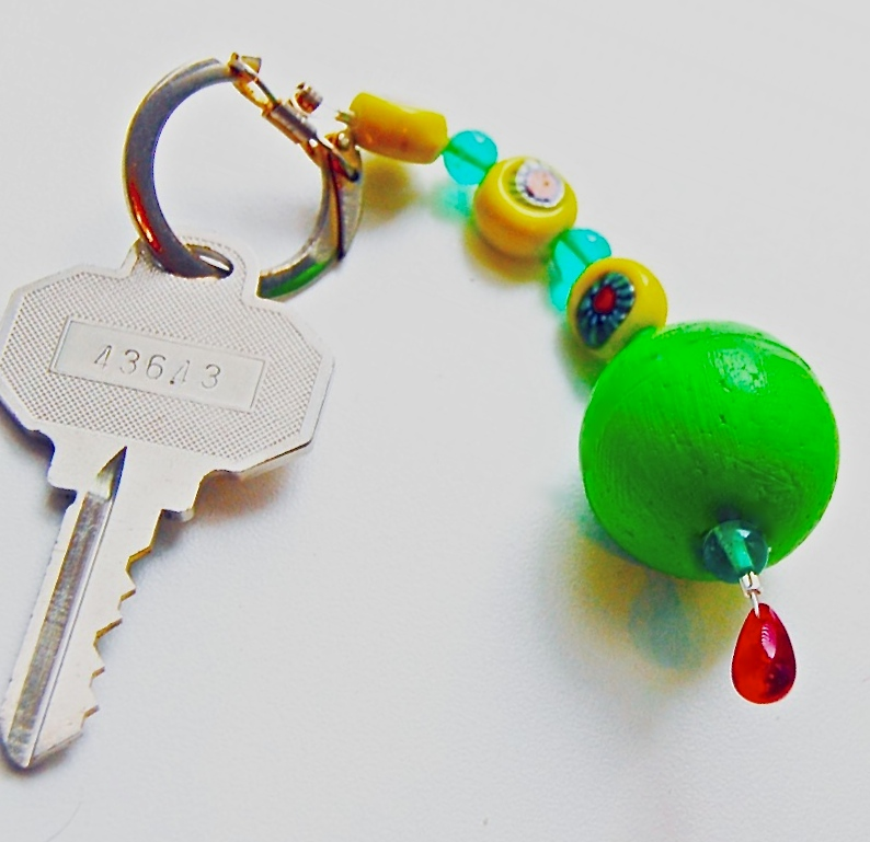 smoothfoam beaded keychain