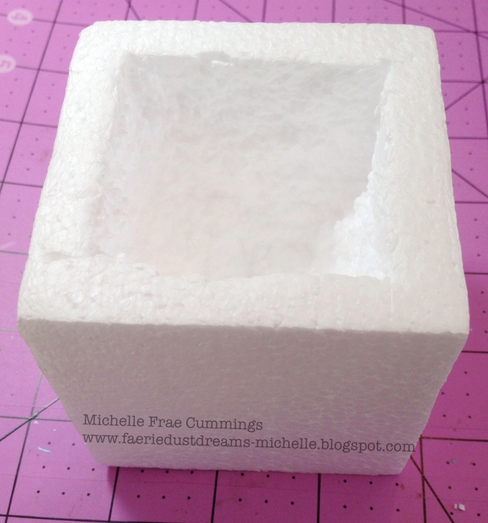 carving out Smoothfoam cube