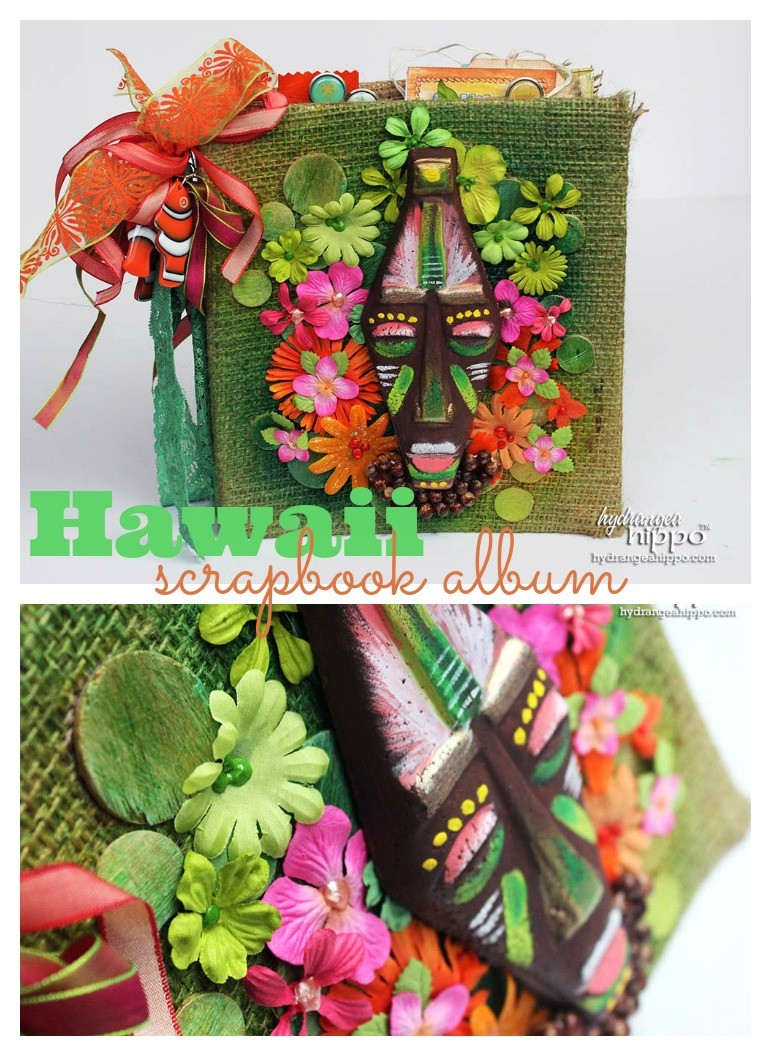 Hawaii Scrapbook Album Collage