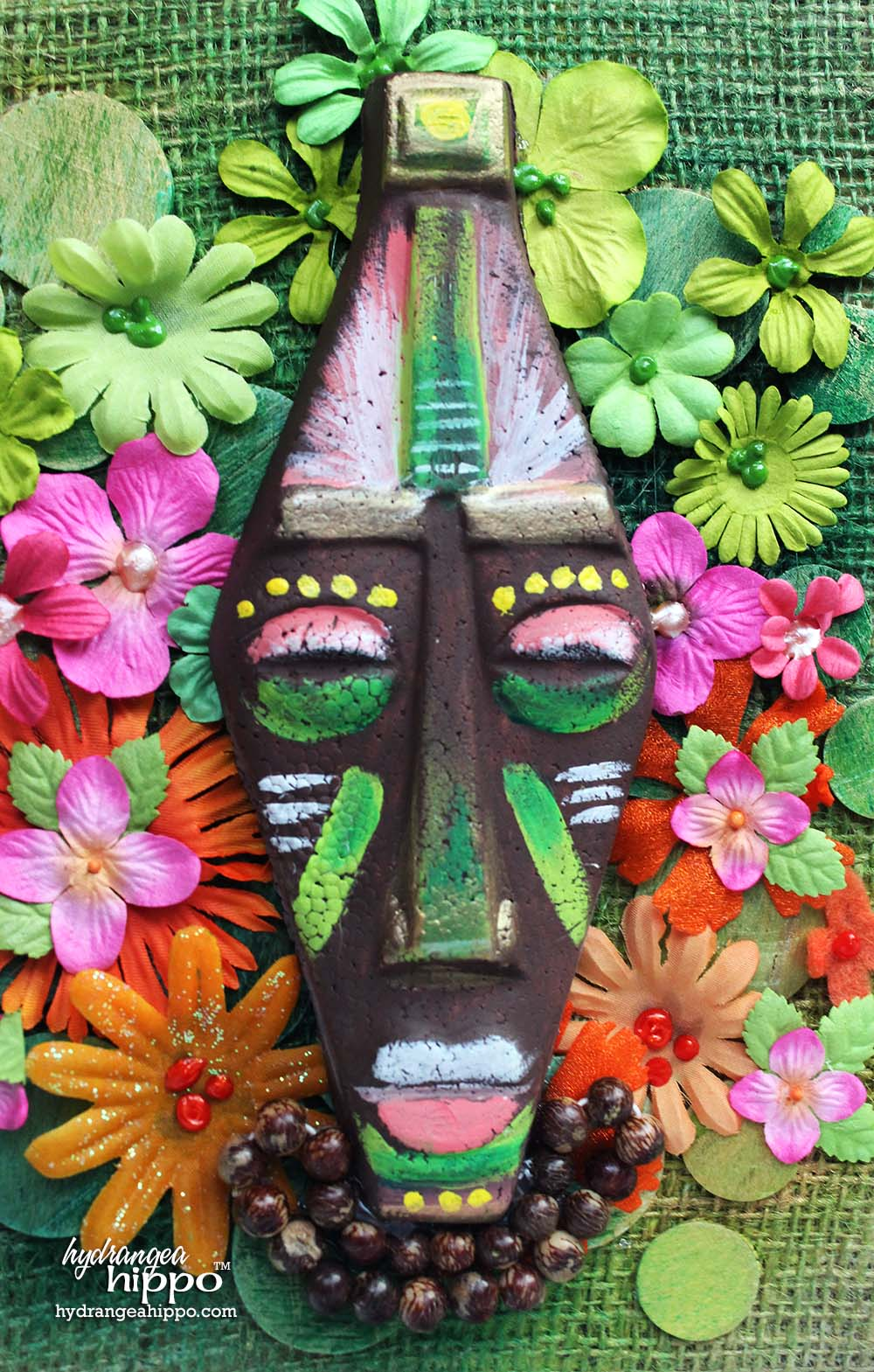 Smoothfoam-Hawaii-Scrapbook-African-Mask-by-Jennifer-Priest-3