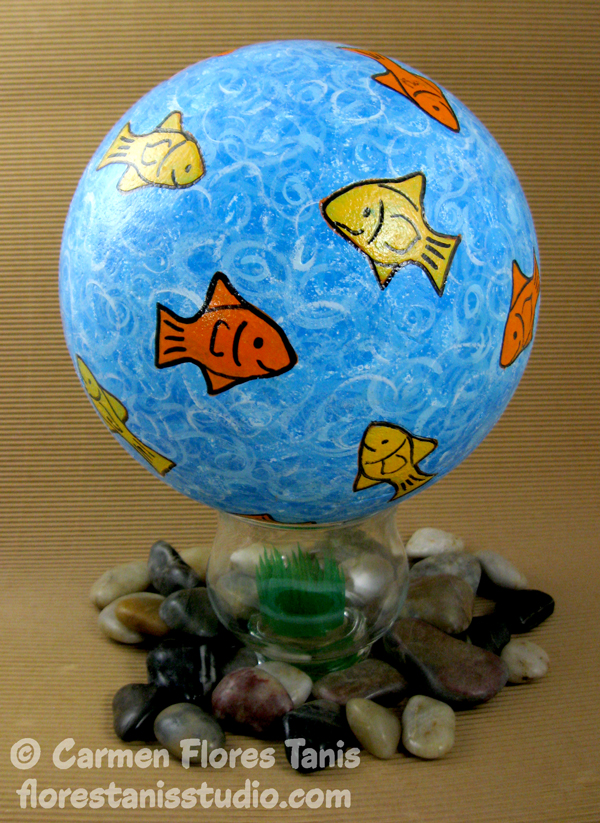 Smoothfoam Painted Goldfish Ball by Carmen Flores Tanis Main