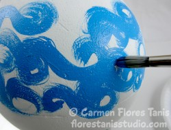 Smoothfoam Painted Goldfish Ball by Carmen Flores Tanis Step Out 3