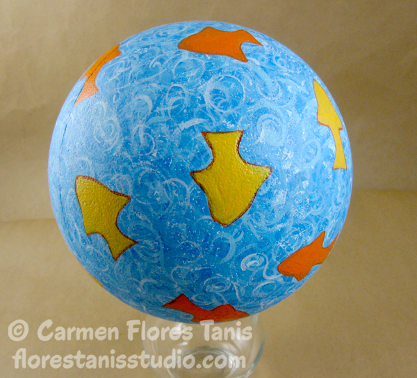 Smoothfoam Painted Goldfish Ball by Carmen Flores Tanis Step Out 6