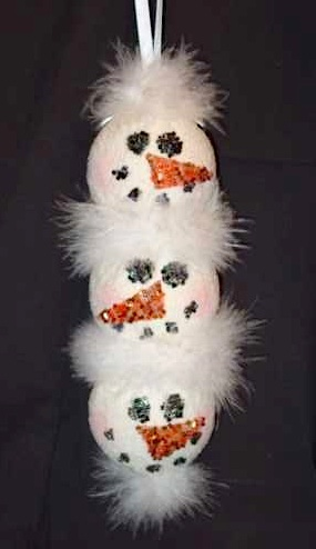 smoothfoam snowmen ornament