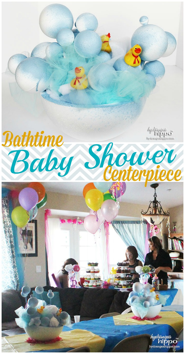 Bathtime Baby Shower Centerpiece