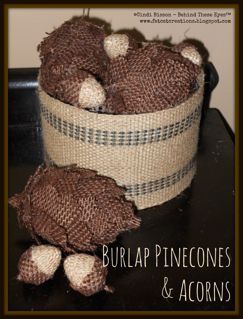 SmoothfoamBurlapPineconesAcorns