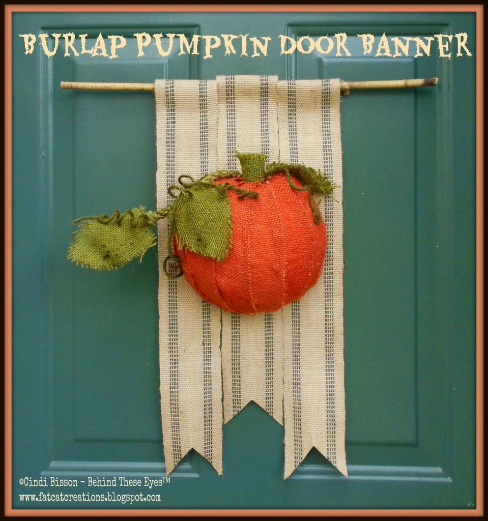Smoothfoam Burlap Pumpkin Door Banner