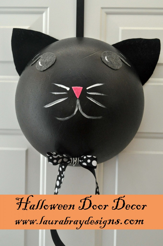 Black Cat Halloween Door Decor Class
