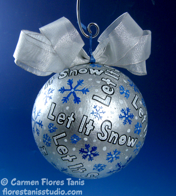 Smoothfoam Painted Winter Snowball by Carmen Flores Tanis