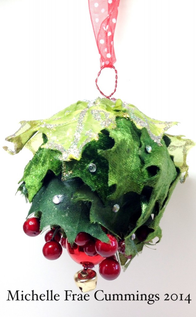 smoothfoam mistletoe ornament