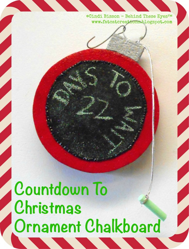 christmas countdown ornament shaped chalkboard