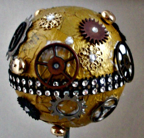 gold steampunk smoothfoam ornament