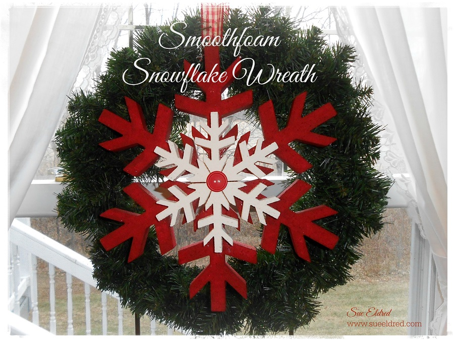 Smoothfoam Snowflake holiday Wreath